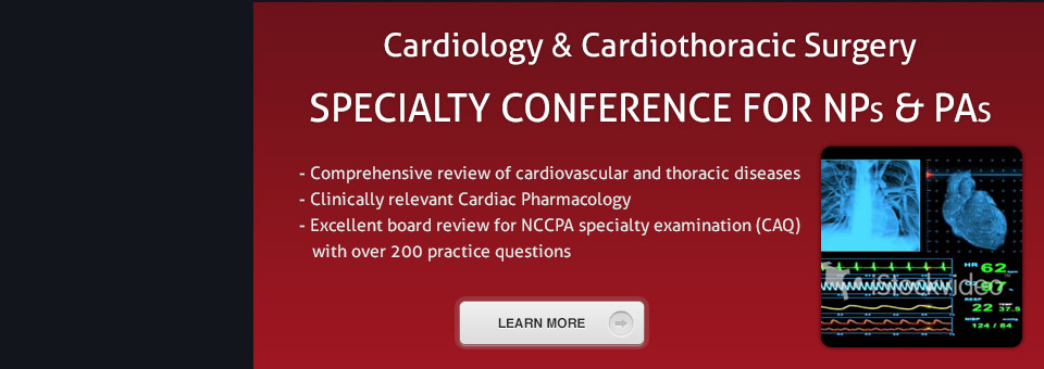 Cardiology & Cardiothoracic Surgery PA & NP Speciality